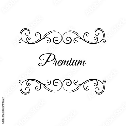 Premium Calligraphy Swirls Page Decorations Luxery Borders Ornate