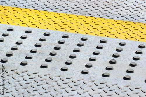 Photo Anti-skid safety bumps on concrete floor