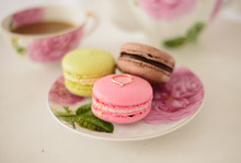 Macaroons The Plare And Gold Ring