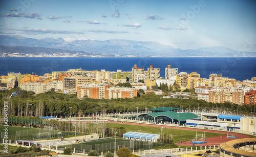 Poster Europese Plekken panorama of Torremolinos coast