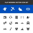 Modern, simple vector icon set with account, sign, sound, aircraft, chat, food, sea, microphone, travel, tree, underwater, architecture, transport, mobile, healthy, health, communication, add icons