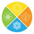 set of four seasons icons.