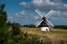 Alte Windmühle Auf Der Insel Mandö, Dänemark
