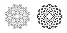 Set Of High Quality Modern Decorative Oriental Black Mandala On White Background . Isolated Vector Elements