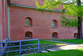 The architecture of historic buildings. Petropavlovskaya fortress. Place of detention of convicted persons. The Time Of Peter The Great.