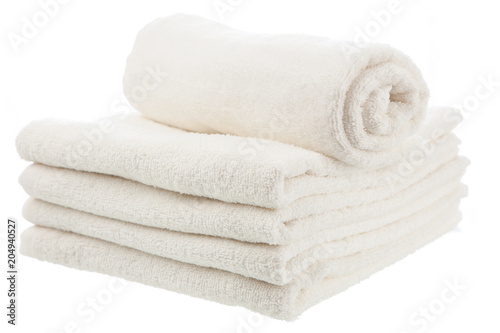 Fotografie, Obraz  Pile of white towels