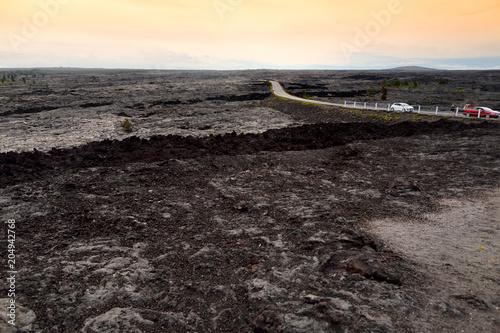 Fotografia  Endless lava fields of the Big Isalnd of Hawaii