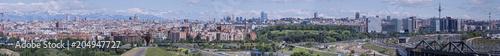 Poster Kaki Panoramic view of Madrid. Spain