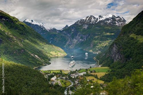 Poster Olive Unesco Heritage Site Geirangerfjord, Norway