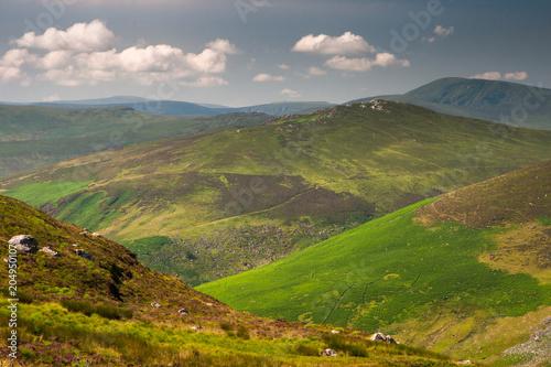 Zdjęcie XXL Spektakularny panoramiczny widok na góry Wicklow w Sally Gap, Irlandia