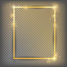 The Gold Sparkling Square Fram...