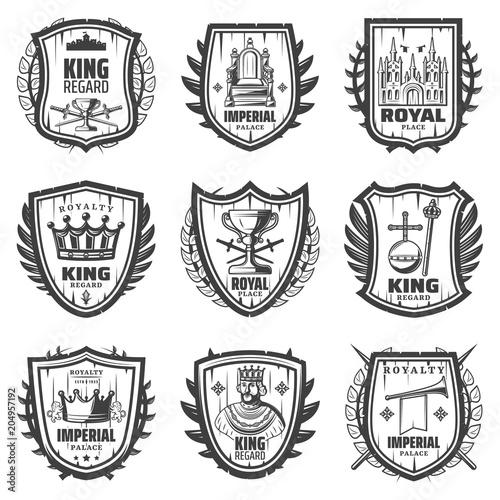 Poster  Vintage Royal Coat Of Arms Set