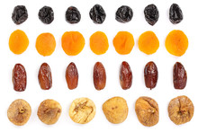 Set Of Dried Fruits Isolated O...