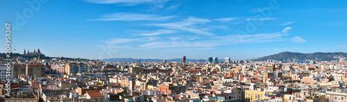 Obraz na płótnie Panorama z Barcelony, Hiszpania