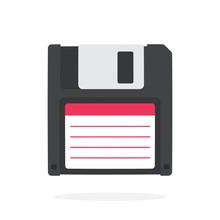 Black Magnetic Computer Floppy...