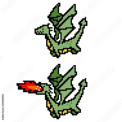 images?q=tbn:ANd9GcQh_l3eQ5xwiPy07kGEXjmjgmBKBRB7H2mRxCGhv1tFWg5c_mWT Pixel Art Dragon @koolgadgetz.com.info