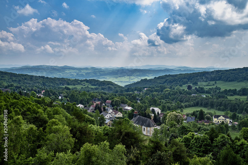 Foto op Aluminium Bleke violet View from Tisé, beautiful landscape