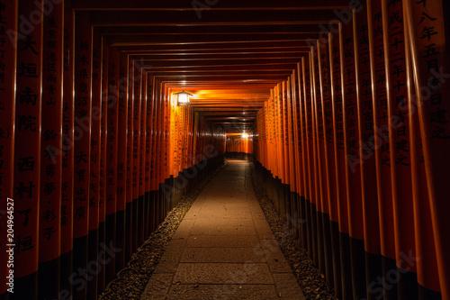 Poster Kyoto Torii gates, Kyoto, Japan