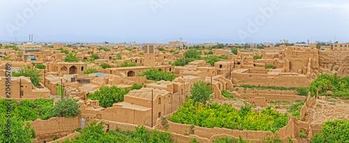 Papiers peints Con. ancienne Meybod Iran aerial view