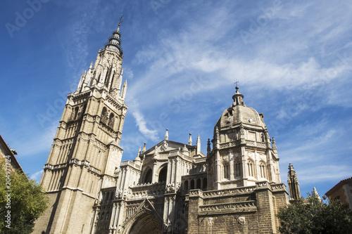 Deurstickers Historisch geb. Kathedrale von Toledo in Spanien