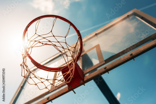 Fotografiet Basketball hoop with net