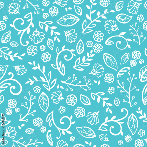 Blue and white floral wallpaper that is