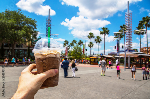 Photo  A guy with some drink at Universal Studios Hollywood