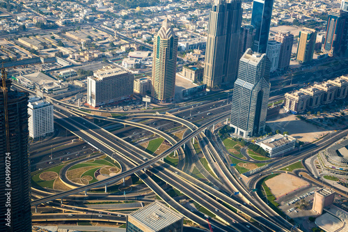 Photo  Amazing aerial panoramic view of Dubai from above
