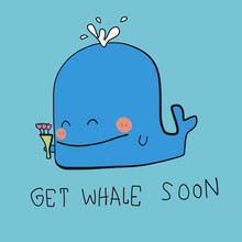 Get Whale Soon Word And Cartoo...