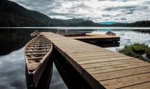 Canoe At Dock