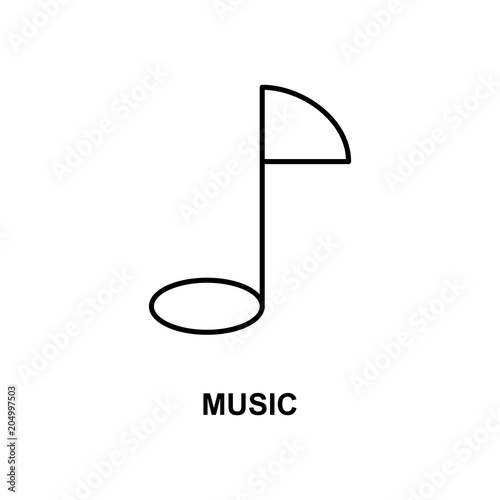 music note icon  Element of simple web icon with name for