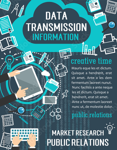 Foto  Public relation and market research concept banner