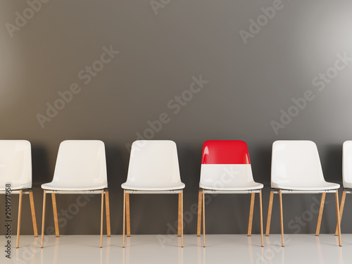 Chair with flag of monaco
