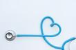 Leinwanddruck Bild - close up of stethoscope isolated on white background