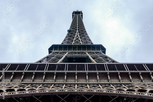 Poster Parijs Photo image a Beautiful panoramic view of Paris Metropolitan City