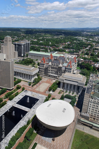 New York State Capitol, Empire Plaza, aerial view Fototapeta