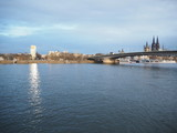 Fototapeta Paryż - Cologne rhein river