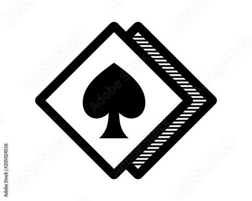 ace spade flush jackpot rhombus icon image vector logo symbol buy
