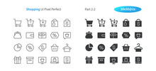 Shopping UI Pixel Perfect Well-crafted Vector Thin Line And Solid Icons 30 2x Grid For Web Graphics And Apps. Simple Minimal Pictogram Part 2-2