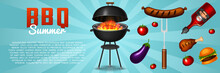 Barbecue Grill Elements Set Is...