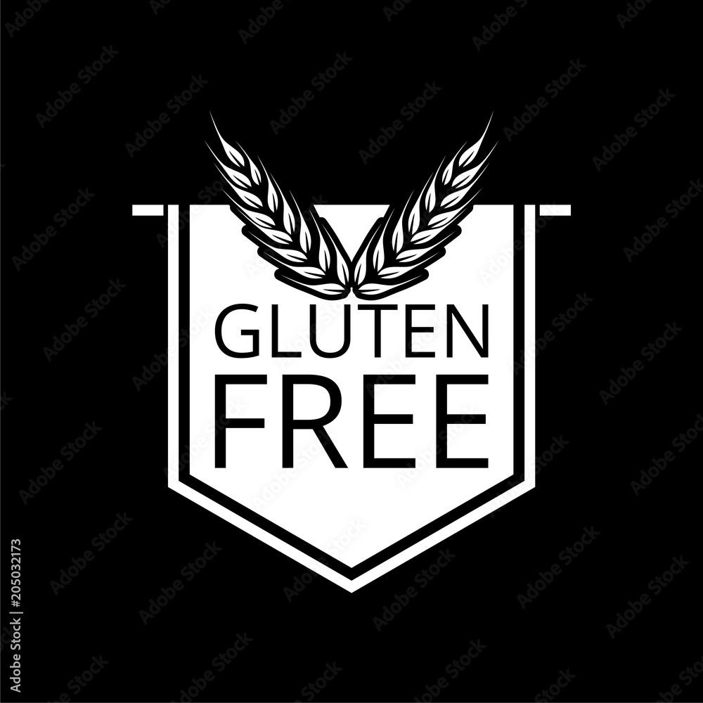 Fotografie, Obraz Gluten free icon, No gluten / gluten free