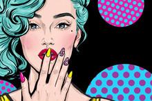 Fashion Illustration Of Girl W...