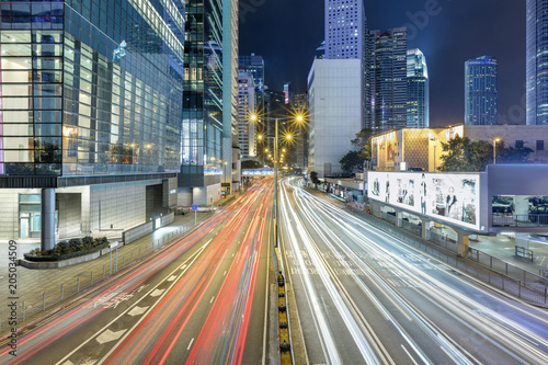 Fototapety, obrazy: Flowing traffic in a big city