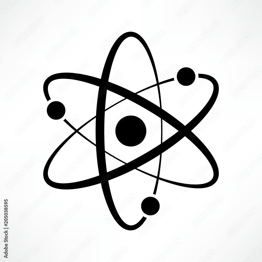 Fototapeta Atom icon vector. Logotype. Symbol