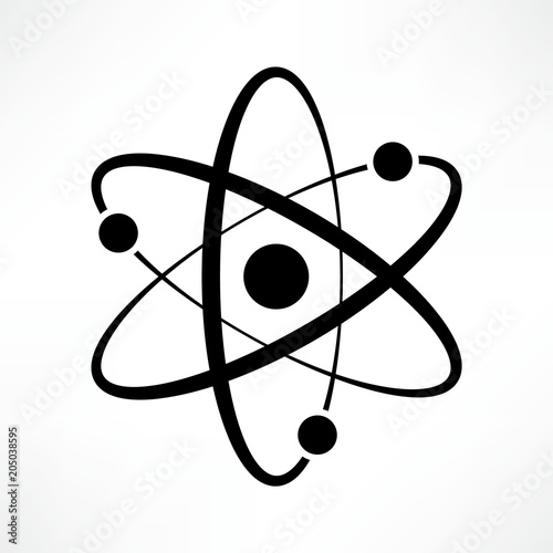 Photo Atom icon vector. Logotype. Symbol