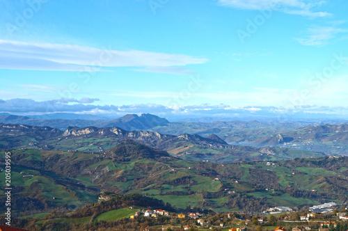 Foto op Plexiglas Pool italian landscape