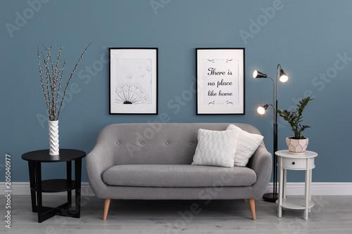 Fotografie, Obraz  Stylish living room interior with comfortable sofa