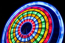 A Long Observation Wheel At Night