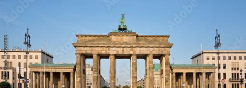 In de dag Centraal Europa Brandenburg gate, Berlin, Germany