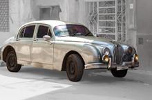 Old Jaguar In Havana Streets